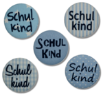 Button SCHULKIND blau