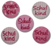 Button SCHULKIND rosa