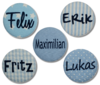 Button mit NAMEN blau